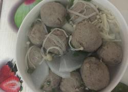 金针菇萝卜牛筋丸汤