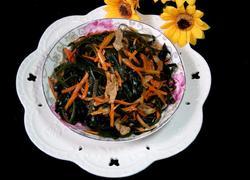 海带胡萝卜丝炒肉