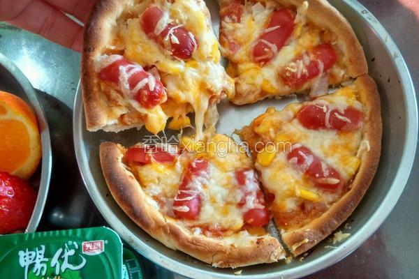 小六寸烤肠批萨