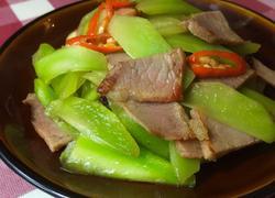 莴笋炒腊肉