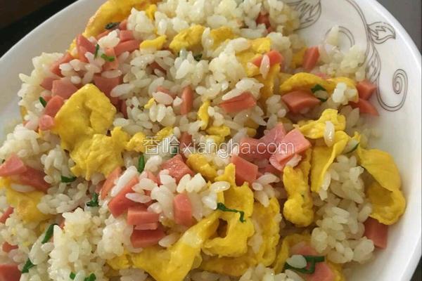 玉米香肠蛋炒饭