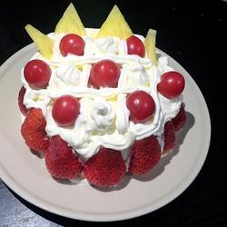 王冠水果蛋糕