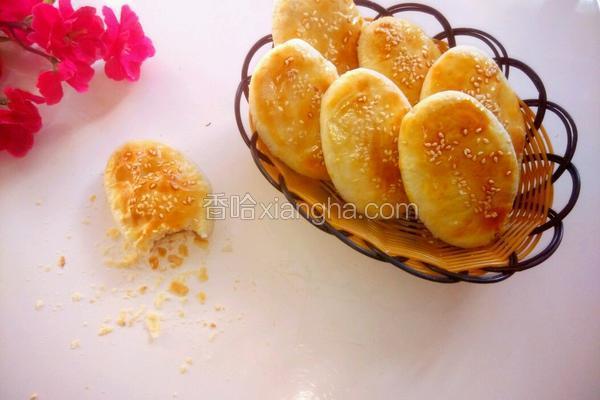 椒盐芝麻牛舌饼