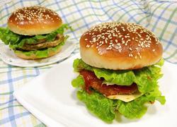 猪排汉堡包
