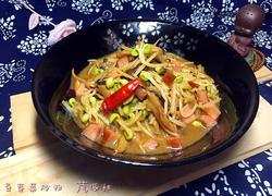 豆芽菜炒粉