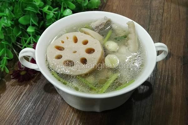 莲藕莲子汤