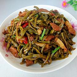 干锅肉苔菜