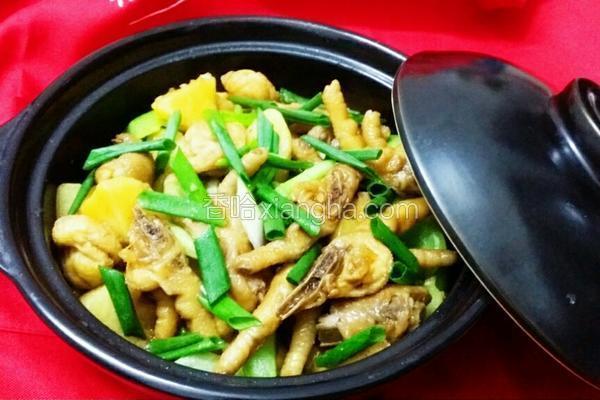 豆腐泡土豆鸡爪煲