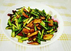 四川腊肉炒蒜苔
