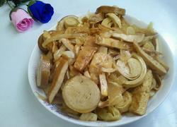 辣菜炒豆腐卷