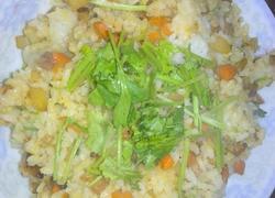 胡萝卜土豆香肠炒饭