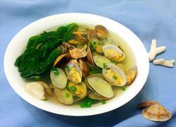 花蛤菠菜汤