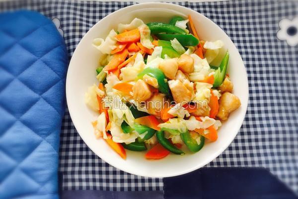 鱼肉炒杂菜