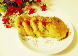 田园虾米鸡肉饼