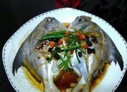 豆豉蒸鯧鳊鱼
