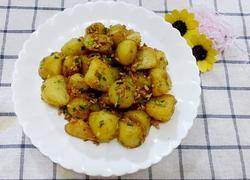 香煎土豆炒肉沫