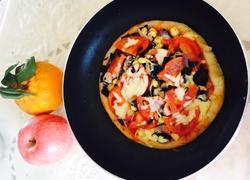 平底锅健康蔬菜披萨