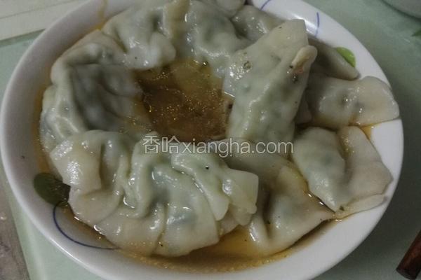 手工韭菜饺