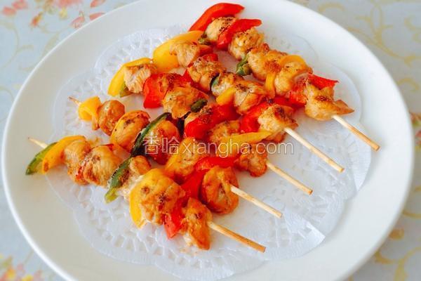 彩椒烤肉串