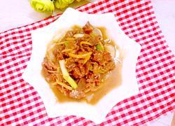 姜丝萝卜炒牛肉