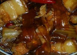 红烧肉炖粉条白菜