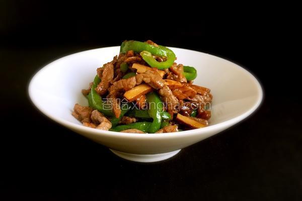 青椒牛肉炒豆干