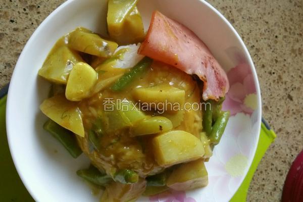 咖喱蔬菜饭