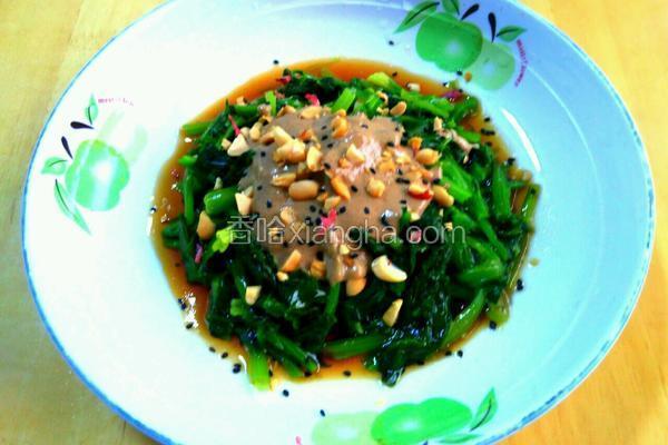 果仁菠菜拌麻酱