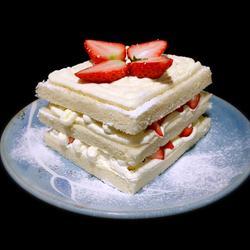 奶油草莓吐司