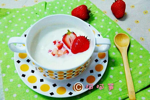草莓双皮奶