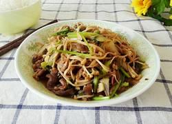 羊肉片炒金针菇