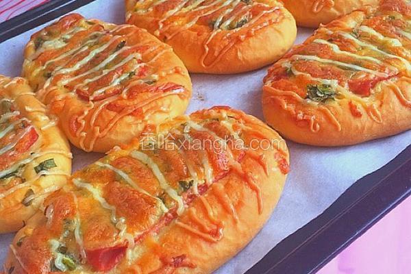 培根芝士香葱面包