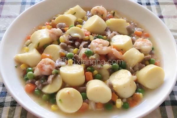虾仁什锦炖日本豆腐