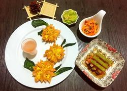 圣女果汁牡丹花蒸饺