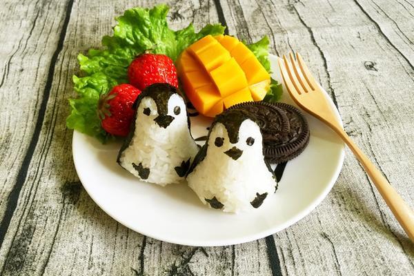 儿童企鹅饭团
