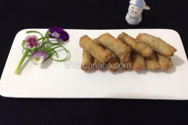 饺子皮芝麻卷
