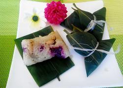 五彩糯米粽