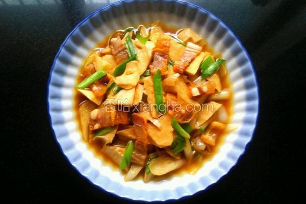 青蒜炒豆干