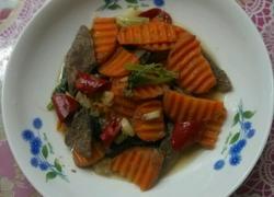 猪肝炒胡萝卜片
