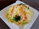 花椒油炝拌土豆丝的做法[图]