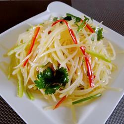 花椒油炝拌土豆丝