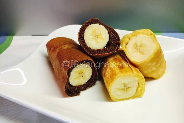 双色蛋糕香蕉卷