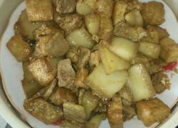 红烧肉加豆腐泡