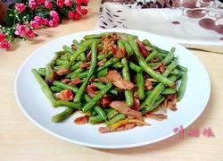 叉烧炒豇豆