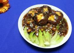 耗油蒜泥香菇灼生菜