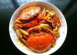 香辣蟹炒年糕