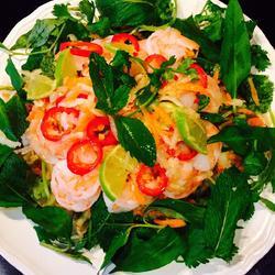 青木瓜虾沙拉