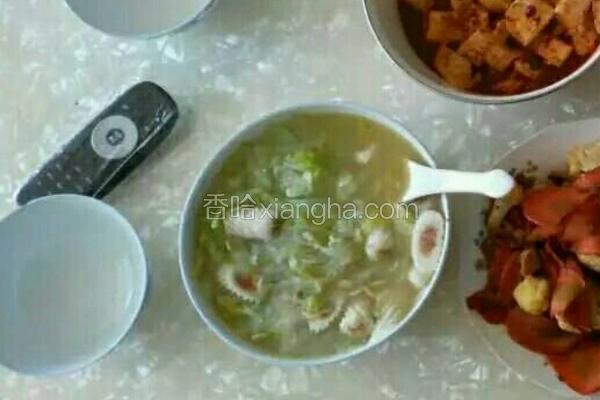 鱼丸白菜粉丝汤