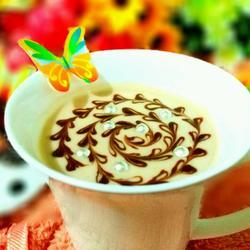 巧克力芒果拉花酸奶杯