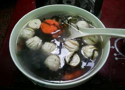 肉丸紫菜胡萝卜汤